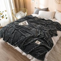Wholesale microfiber soft sheets for sale - Group buy Soft Warm Coral Fleece Blanket Winter Sheet Bedspread Sofa Plaid Throw Gsm Light Thin Mechanical Wash Flannel Blankets