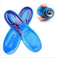 ortopedik ayakkabı jöleleri toptan satış-Silikon Jel Tabanlık Adam Kadın Tabanlık Ortopedik Masaj Ayakkabı Ekler Şok Emilimi Shoepad Yüksek Kalite YYA121