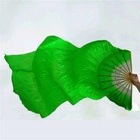 voile de soie ventre achat en gros de-1.8m Travail manuel Longue Voile Soie Coloré Fans Femmes Effectuer La Danse Du Ventre Fournitures de Scène Chinois Traditionnel Bambou Sequins Fan 8zl hh