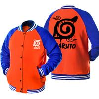 Wholesale naruto coat jacket online - 2017 New Hot Sale Men s Spring Autumn Jacket For Men Anime Print NARUTO Hip Hop Tracksuit Bomber Jacket Harajuku Coat Jackets