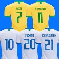 фред джерси оптовых-brazil Бразилия Джерси 2018 2019 брейсинг футбол Джерси NEYMAR JR COUTINHO G JESUS brisil футбольная рубашка DAVID LUIZ MARCELO FIRMINO FRED brasil Camisa de futebol