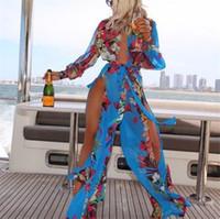 ingrosso abiti sexy per donne grasse-Nuovi costumi da bagno donna sexy Copricostume da spiaggia Abiti da donna Plus Size Costumi da bagno Costumi da bagno grassi Costumi da bagno da donna in chiffon irregolare