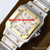 ingrosso orologi quadrati neri delle donne-Nuove signore di lusso in acciaio inossidabile con numeri romani neri Swiss 2688 Automatic Square Screws Sapphire Crystal Womens Watches
