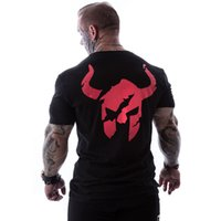baumwoll-spandex-sport großhandel-Men Run Sports Cotton T-Shirt Gym Bekleidung Fitness Bodybuilding Kurz Hülse dünnen T-Shirt Männer-Jogging Training Training T Tops Bekleidung
