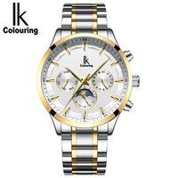Wholesale ik watches men for sale - Group buy Ik Ikcolouring Fully Automatic Mechanics Surface Male Table Function Trend Waterproof Business Affairs Wrist Watch Man Stainless Steel