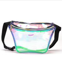 laser pvc venda por atacado-Pacote de cintura holográfica PVC laser a laser transparente fanny pack novo saco no peito heuptas