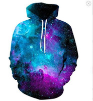 sudadera nebulosa al por mayor-Space Galaxy Hoodies Hombre / mujer Sudadera Con Capucha Marca 3d Ropa Cap Sudadera con Capucha Estampado Paisley Nebula Chaqueta SH190701