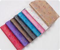 accesorios artesanales de strass al por mayor-Arco iris rosa y diamantes de imitación ahuecados con brillo Faux PU tapicería de cuero Craft Accessories - Bolsa / Monedero Craft File Pack
