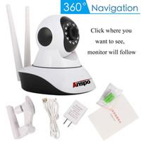 Wholesale webcam camera night resale online - Anspo Wireless P Pan Tilt Network Home CCTV IP Camera Network Surveillance IR Night Vision WiFi Webcam Indoor Baby Monitor p