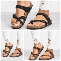 Wholesale men sandals hot sale resale online - Summer Slides Sandals Women Men Outdoors Sawdust Leopard Print Flat Bottom Thickening Slipper Fashion Ladies Shoes Hot Sale klI1