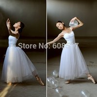 Wholesale New Women Classical Professional Long Ballet Dance Dress Ballerina Tutu dress Adult Long Lyrical leotards