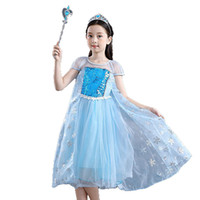 Wholesale sequin stage costumes for sale - Group buy Queen princess dress children girls cosplay costumes Sequin Glitter Patchwork snowflake printing Gauze cloak fluffy dress girl costume M202