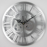arte relógios venda por atacado-relógio Europeia parede engrenagem antique clock engrenagem mecânica do vintage Grande Muralha Para Art Home Living Room Decoration