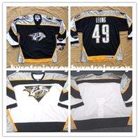нэшвилл хоккей оптовых-Дешевые пользовательские Нэшвилл хищники CCM хоккей Джерси мужские персонализированные шить трикотажные изделия