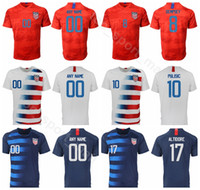 maillot de football bleu 13 achat en gros de-Hommes Football 8 DEMPSEY Maillot Accueil Rouge Bleu Blanc 17 ALTIDORE 7 WOOD 10 DONOVAN 16 VERT 13 JONES Maillot De Football Kits Uniforme