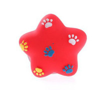 Wholesale dogs toy poodle for sale - Pets Small Five pointed Star Dog Toys A Molar Tooth Wear resisting Print Footprint Distinguished Guest Poodle