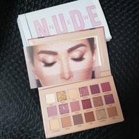 пакет для пк оптовых-Высокое качество новая красота макияж палитра hudamoji ню 18 цветов палитра теней для век матовый мерцание ПВХ пакет реальные фотографии 12 шт DHL доставка