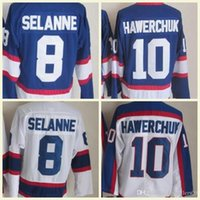 2018 Wholesale Mens Winnipeg NHL Jersey 8 Selanne 10 Dale Hawerchuk White  Blue CCM Vintage Hockey Jerseys 100% Stitched High Quality 7d806a27b