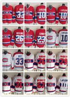 ingrosso maglie a maglia-L'uomo Montreal Canadiens Bianco CH-CCM ritorno al passato Jersey NHL 10 Guy Lafleur Rosso 33 Patrick Roy 31 Carey Price Hockey su ghiaccio Jersey