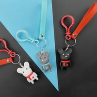 Wholesale mouse resins for sale - Group buy fashion Cute Little Mouse Key Animal Key Keychain Ring Bag Pendant Unisex Gift Jewelry