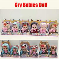 ingrosso giocattoli della bambola vivaci del bambino-Cry Babies Electronic Music Piangendo Cry Babies Magic No Tears Silicone Alive Dolls Lifelike Baby Toy Ragazze Regali di compleanno