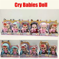 Wholesale alive dolls for sale - Group buy Cry Babies Electronic Music Weeping Cry Babies Magic No Tears Silicone Alive Dolls Lifelike Baby Toy Girls Birthday Gifts
