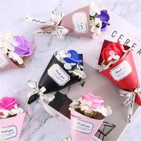 masaüstü ide toptan satış-Toptan Sabun Çiçekler Yapay Sahte Çiçek 7 Renkler Yaratıcı Mini Hediyeler anneler Günü En İyi Doğum Günü Hediyesi