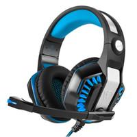internet uzaktan toptan satış-GM-2 Internet kafeler Kulaklık Oyun Kulaklıklar Mikrofon ile Kulaklıklar Oyun Yıldırım ile Uzaktan Gürültü Azaltma Subwoofer Uzaktan Kumanda