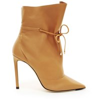 Wholesale roman dress styles for sale - Group buy 2019 New Arrive Lace Up Gladiator Ankle Boots Women Roman Style Pointed Toe Thin High Heels Short Boots Casual Dress Shoes Women