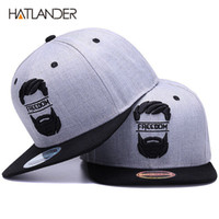 ae77c6195d9 Hatlander Original Snapback Cap Men Flat Brim Bone Baseball Caps Embroidery  Mustache Mens Hat Youth Street Ware Cool Hip Hop Cap C19022301
