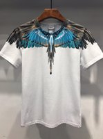 Wholesale fashion birds silver for sale - Group buy 19SS The New Style Bird Feather Print Series Designer T Shirts MARCELO BURLON Fashion T Shirt