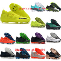Wholesale high green soccer shoes resale online - 2020 mens soccer cleats Future Netfit FG soccer shoes One FG football boots outdoor Tacos de futbol high quality new arrival