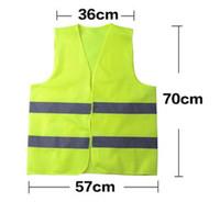 colete de segurança v reflexivo venda por atacado-Reflexivo Aviso Vest fluorescente High Intensity Reflexão Artigos de Segurança de Tráfego Roupa seguro com navio DHL livre