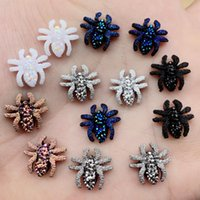 Wholesale diy cabochons resale online - mm DIY Mini Spider Flat back resin cabochons Rhinestone Crystal Strass For Clothes Jewelry Making Crafts B70