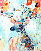Wholesale carnival painting resale online - Carnival Deer Paint By Numbers Kits For Adults Diy Diy Picture Coloring By Number Beautiful Painting By Numbers High Quality Canvas