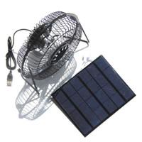 casas de painéis solares venda por atacado-Painel Solar Ventiladores TwinPa Ao Ar Livre para Camping Casa Casa de Frango RV Carro Gazebo Sistema de Ventilação de Estufa