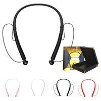 ingrosso cuffia avricolare dell'orecchio del bluetooth-Cuffie auricolari in-ear con auricolari cablate sport HBQ Q14 universale per telefono Dual-mode 4.2 Sport collo-appeso con scatola al minuto