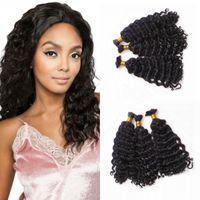 Wholesale unprocessed peruvian braiding hair online - Deep Wave Hair Bulk Unprocessed Raw Indian Human Hair Bulks For Weaves Extensions Braiding for FDSHINE
