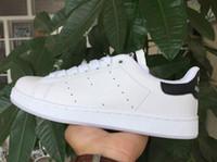 zebra şerit düz ayakkabılar toptan satış-2019 Ücretsiz kargo klasik zebra çizgileri ulaşmak için Stan ayakkabı erkekler kadınlar moda spor ayakkabı rahat spor ayakkabı lover Smith flats ayakkabı