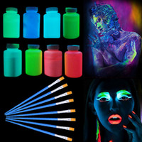 Wholesale painting birthday parties resale online - Funny Nightclub Fluorescent Party Hand Painted Nightlight Body Color Pigment Birthday Party Halloween Supplies Drop Ship