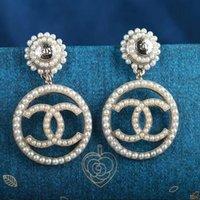 orelhas de ouro 18k venda por atacado-Amigos 18k brincos de ouro branco brincos grandes brincos de diamante para as mulheres brincos de zircão branco