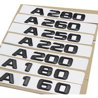 envolturas de fibra de carbono púrpura al por mayor-1set Asian black A220 A280 A Tronco Trasero Logotipo Emblema Insignia Número Letras para Mercedes Benz A-Class A160 A180 A200 A250 A260