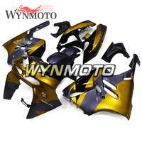 zx9r gold toptan satış-NINJA ZX-9R 94-97 Kawasaki ZX9R ZX-9R 1994 1995 1996 Için Tam Kaporta Motosiklet Motosiklet ABS Plastik Kaporta Siyah Altın Kaputlar