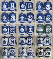 best hockey jersey toptan satış-En iyi 14 Dave Keon Formalar Erkekler Toronto Maple 28 Kravat Domi Yapraklar 29 Felix Potvin 29 Mike Palmateer 31 Hibe Fuhr Hokey Vintage Klasik