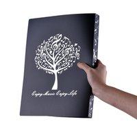 taschenbücher verkauf großhandel-Heißer Verkauf 40 Taschen Display Buch Musik Blatt Datei Papier Dokumente Lagerung Ordner halter PVC A4 Größe (Schwarz)