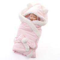 ingrosso accappatoi per bambini con cappuccio-VTOM Newbron Baby Fleece Sleepwear Robes Inverno Caldo Pigiameria Infantile Suit Bambini Robe Hooded Accappatoio Pigiama
