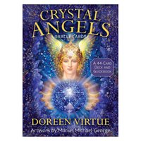Tarot Card Crystal Angel Oracle Deck Game Durable Fashionable Tarot Cards with Beautiful Painting for Playing Card Board Games