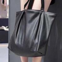 ingrosso borsa negozio nero-bag brand designer mano strada di grande capacità shopper nera borsa casual classico Il modo Frosted borsa il trasporto libero # 2019