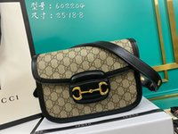 Wholesale large women s handbags resale online - New lady s handbag A high end custom quality large capacity handbag fashion trend leisure style gold metal accessories with long shoulder s