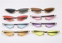 ters camlar toptan satış-Moda Kadın Kedi Göz Güneş Gözlüğü Alaşım Çerçeve Güneş Gözlükleri Anti-Uv Gözlükler Ters Üçgen Gözlük Gözlüğü SUN Gözlük A + +